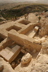 Photo:Archaeologists believe they have uncovered King Herod's tomb in the West Bank, Israel.