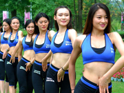 A glimpse of beautiful ladies in Chinese women's fitness team