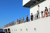 Chinese navy fleet visits Cape Town, South Africa