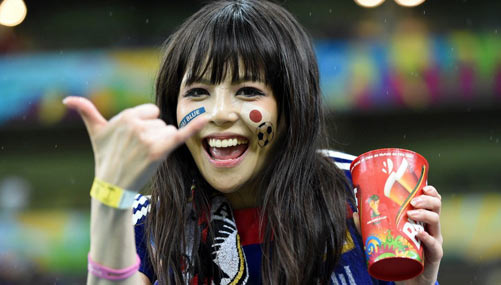 In pictures: beautiful fans of World Cup