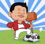 Cartoon: Xi and football