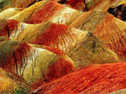 Scenery at Zhangye Danxia Landform Geological Park in Gansu