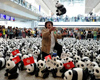 Paper pandas at HK Int'l Airport