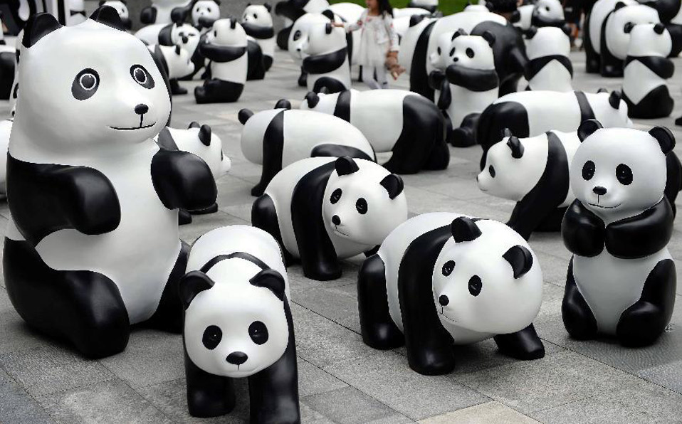 '1St panda' exhibition opens in Shanghai