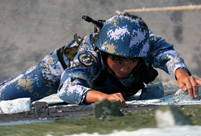 Female soldier in Chinese special force