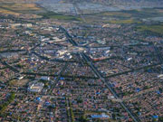 Aerial view of the biggest 'Bagua' city in the world