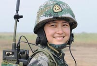 A female missile launch company of PLA