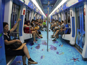 Sea world 3D subway train unveiled in Ningbo