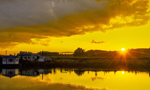 Picturesque Dayilan Manchu village in NE China