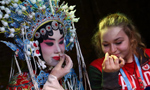 Athletes experience the charm of Chinese traditional opera in Nanjing