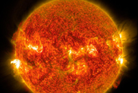 NASA releases images of solar flare