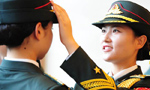 Female PLA honor guards