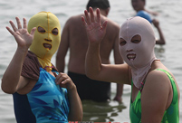 Bazinga! Watch out the 'facekini' fashion bomb attack