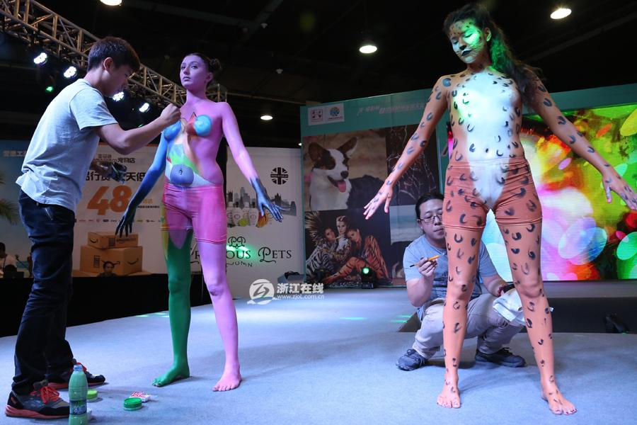 Body Painting Show >> Hot Human Body Painting Fashion Show 6 People S Daily Online