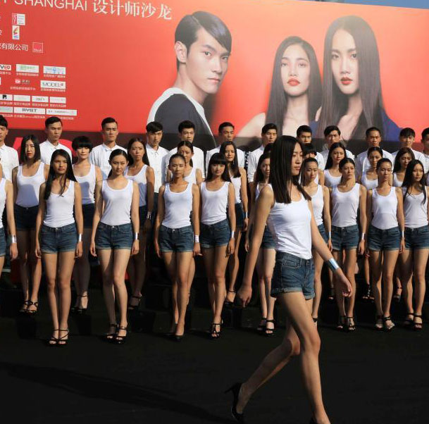 Charming contestants of Shanghai Int'l Model Contest
