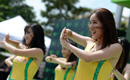 Attractive cheerleaders in 2014 Tour of Hainan