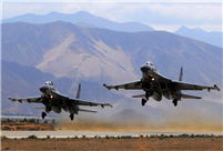 J-11 fighters in air exercise