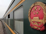 The first train to go through China, Mongolia and Russia