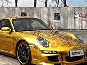 A Porsche gilded in gold