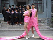 Eye-catching graduation photos in Shandong