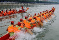 Dragon boat race held to celebrate upcoming Duanwu Festival