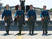 First batch of female combat pilots with duel degrees fly Flying Leopard