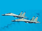 PLA Air Force fighter aircraft in action