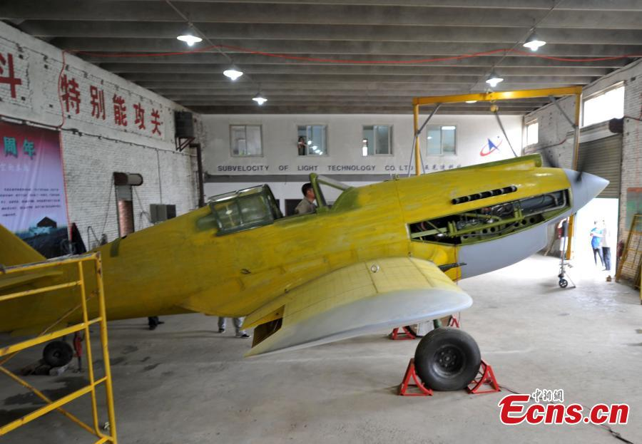 Fan builds famed Flying Tigers plane (2) - People's Daily Online