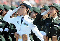 Female soldiers add color to military parades