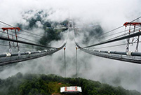 Construction on Asia's biggest suspension bridge started