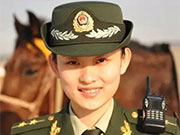 Charming beauties and handsome soldiers in China's border security forces