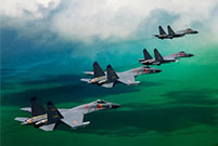 Stunning moments of Chinese fighter jets