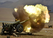 Stunning moments when PLA antiaircraft guns fire