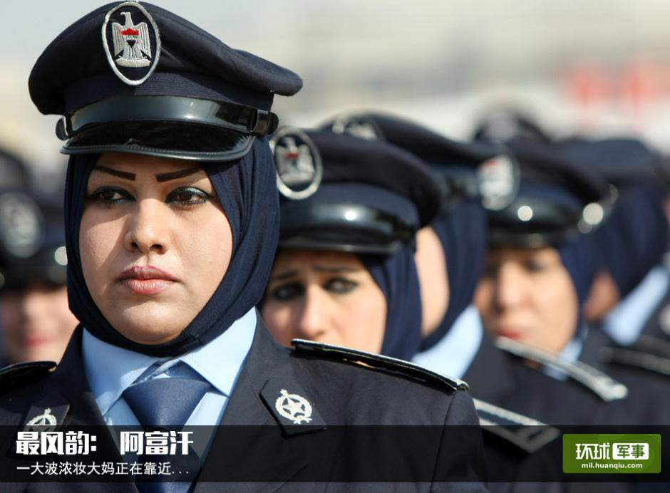 Foreign female soldiers in military parades
