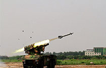 'Enemy planes' intercepted by Hongqi-7B air-defense missiles
