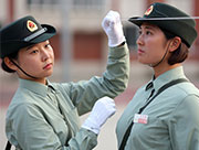 The only female soldiers' formation at China's V-Day Parade