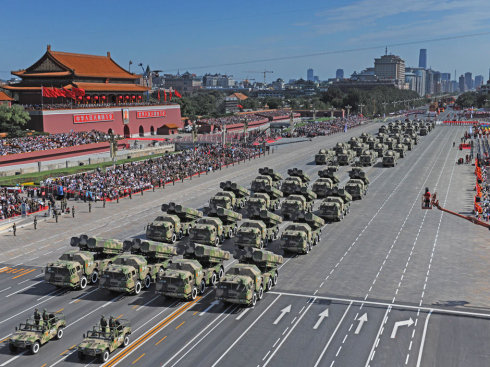 China's satellite-guided military parade