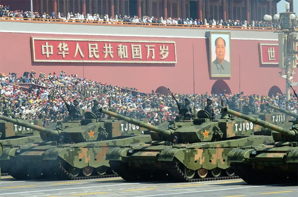 A total of 27 armament formations march forward in V-Day parade. 84% have never been displayed before