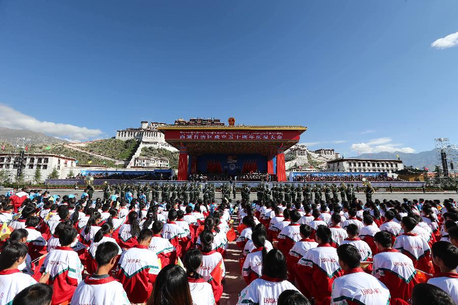 China celebrates 50th anniversary of Tibet's autonomy