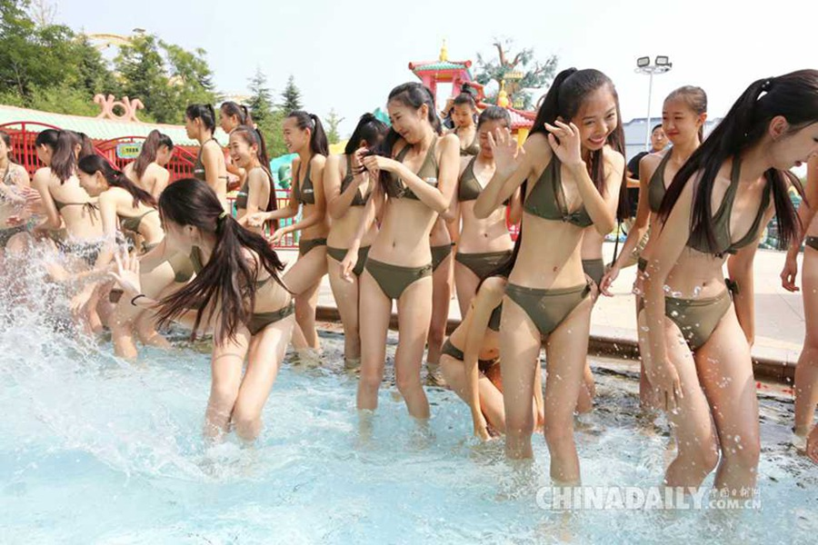 Naked girls in qingdao china Bikini Models Compete In Oriental Beauty Pageant People S Daily Online