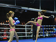 Bikini boxing on opening day of a bar in Taiyuan