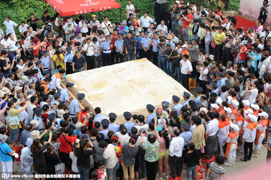 Tofu weighing 8 tons made in Anhui