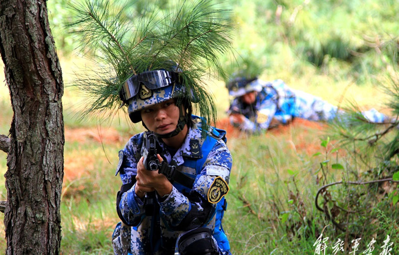 Female PLA marines' camouflage