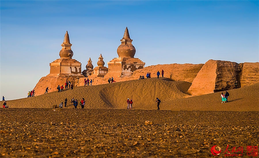 ancient city ruins in gobi desert people s daily online