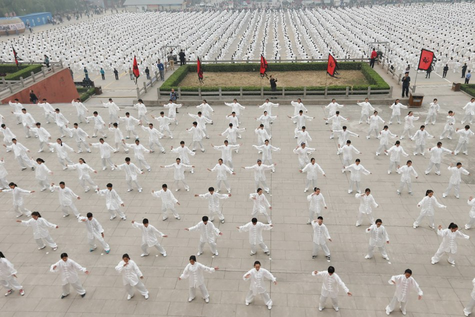 Millions of people all over the world practice Tai Chi for Guinness Record