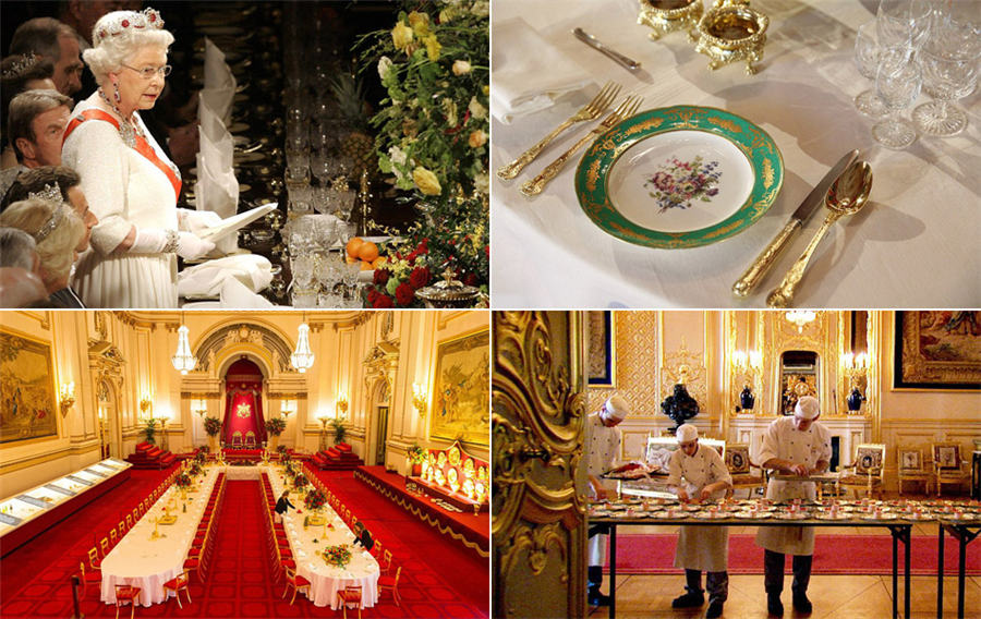 In pics: State Banquet at Buckingham Palace