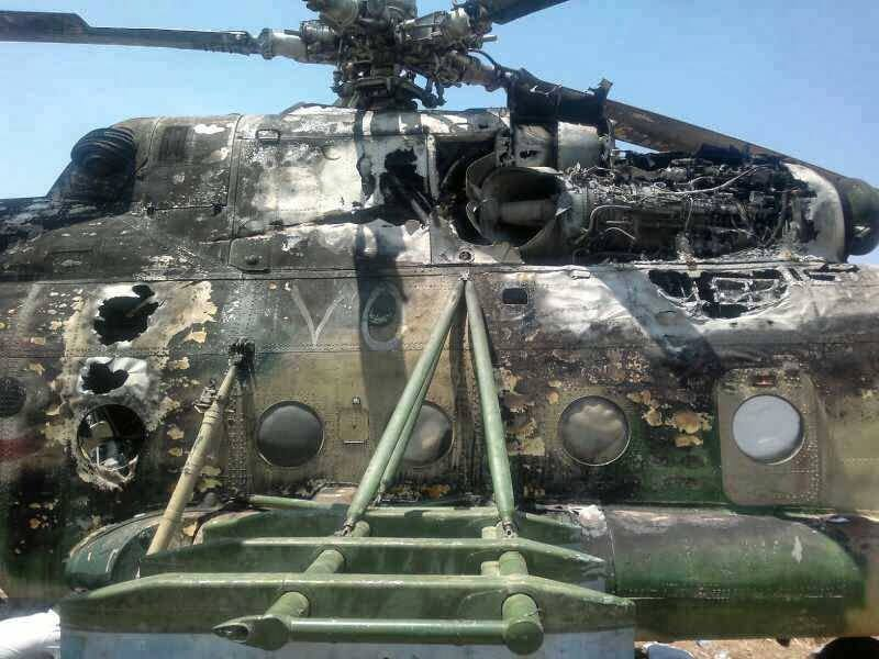Russian helicopter lands safely after being attacked in Syria