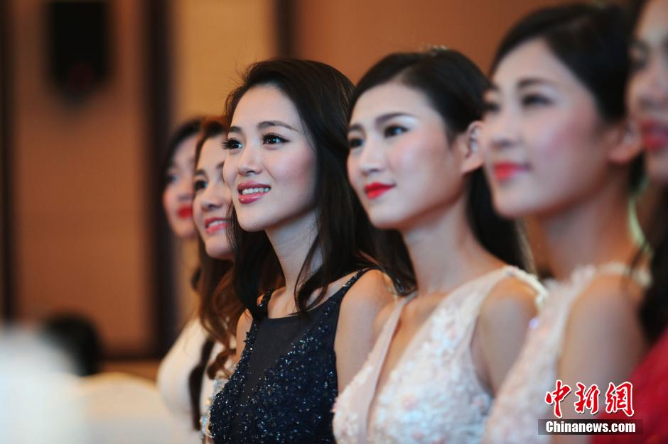 Contestants for China final of 65th Miss World Beauty Pageant debut in Shanghai