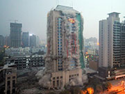 118-meter-high Never-used Building in NW. China Demolished