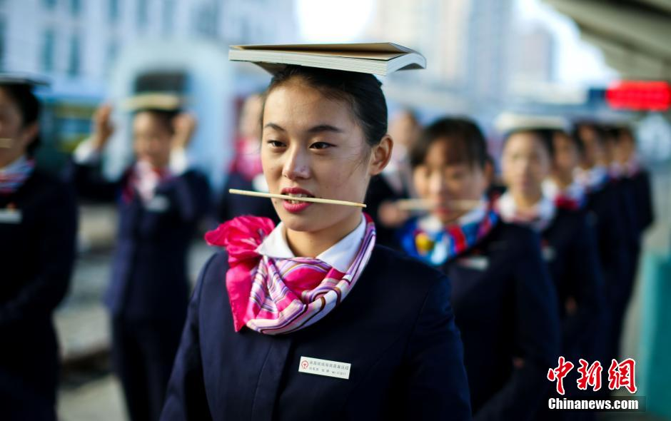 Stewardesses get trained for better service